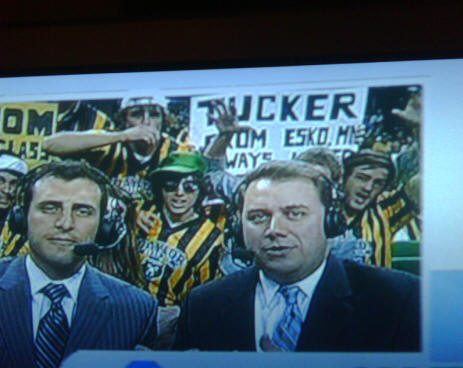 Jordan Tucker sign at Baylor game ESPN