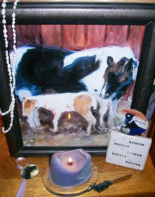 Windchill memorial candle Tracey Burm