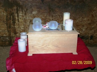 Windchill's stall and memorial candles